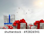 mountain of gift boxes. mixed... | Shutterstock . vector #692826541