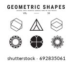 geometric shapes set. universal ... | Shutterstock .eps vector #692835061