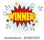 winner comic explosion isolated ... | Shutterstock .eps vector #692837245