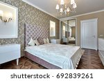 bedroom with a beautiful... | Shutterstock . vector #692839261