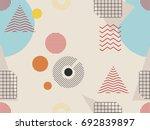 memphis seamless pattern.... | Shutterstock .eps vector #692839897