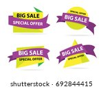 colorful shopping sale banner... | Shutterstock .eps vector #692844415
