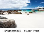 beautiful boulders beach... | Shutterstock . vector #692847985