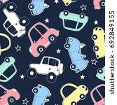 cars pattern illustration... | Shutterstock .eps vector #692849155