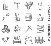 wine outline icon set. winery... | Shutterstock .eps vector #692849377
