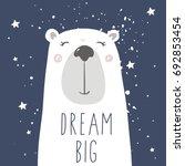 cute bear  in space | Shutterstock .eps vector #692853454