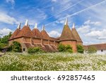 Oast House With Flower Field I...
