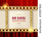 shining retro light banner.... | Shutterstock .eps vector #692857861