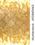 x mas golden background with... | Shutterstock . vector #692860465