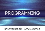 programming code abstract... | Shutterstock .eps vector #692860915