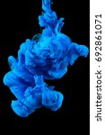 color ink drops in water with... | Shutterstock . vector #692861071