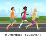 vector illustration of cheerful ... | Shutterstock .eps vector #692864647