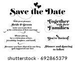 wedding invitation wording.... | Shutterstock .eps vector #692865379