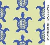 blue openwork turtle seamless