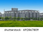 agricultural silos   building... | Shutterstock . vector #692867809