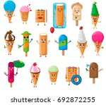 ice cream characters set ... | Shutterstock .eps vector #692872255