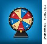 color lucky wheel template.... | Shutterstock .eps vector #692874511