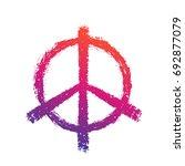 peace sign on white   Shutterstock .eps vector #692877079