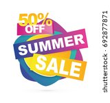 summer sale banner. sale 50off. ... | Shutterstock .eps vector #692877871