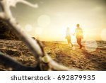 summer time and beach with... | Shutterstock . vector #692879935