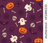 halloween pattern background.... | Shutterstock .eps vector #692880235