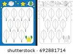 preschool worksheet for... | Shutterstock .eps vector #692881714