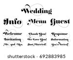 wedding invitation wording.... | Shutterstock .eps vector #692883985