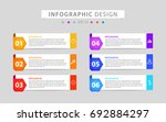 infographics design vector and... | Shutterstock .eps vector #692884297