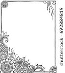 stylized with henna tattoos... | Shutterstock .eps vector #692884819