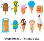 set of ice cream characters ... | Shutterstock .eps vector #692891161