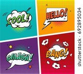 comic book. concept of the...   Shutterstock .eps vector #692895034