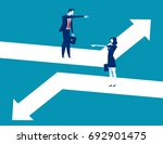 direction. business person... | Shutterstock .eps vector #692901475