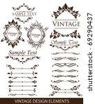 vintage design elements ... | Shutterstock .eps vector #69290437