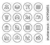 set round line icons of roof | Shutterstock .eps vector #692906851