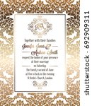 vintage baroque style wedding... | Shutterstock . vector #692909311