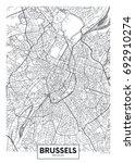 detailed vector poster city map ... | Shutterstock .eps vector #692910274