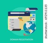 domain registration | Shutterstock .eps vector #692911135