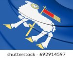 3d flag of gotland county ... | Shutterstock . vector #692914597