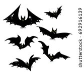 set of bats for halloween.... | Shutterstock .eps vector #692916139