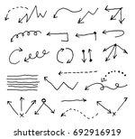 doodle arrow set | Shutterstock .eps vector #692916919