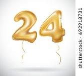vector golden 24 number twenty... | Shutterstock .eps vector #692918731