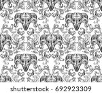 ornamental hand drawn pattern... | Shutterstock .eps vector #692923309