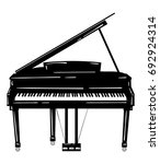 vector illustration of a piano. ... | Shutterstock .eps vector #692924314