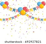 birthday bunting flag and... | Shutterstock .eps vector #692927821