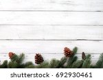 christmas background   fir... | Shutterstock . vector #692930461