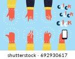 cartoon colorful illustration... | Shutterstock .eps vector #692930617