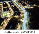 aerial view of residential... | Shutterstock . vector #692933854