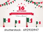 16 september. mexico happy... | Shutterstock .eps vector #692933947