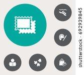 set of 6 hobbie icons set... | Shutterstock .eps vector #692939845