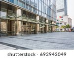 entrance of modern office... | Shutterstock . vector #692943049